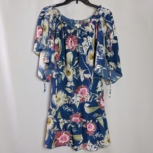 Umgee Off The Shoulder Open Sleeve Floral Tunic